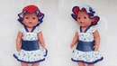 Одежда для кукол Беби Бон. Летняя шапка панамка. Clothes for Baby Bon dolls. Summer hat panama.