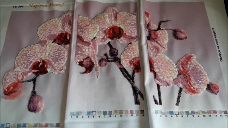 23 08 2019 Триптих Орхидеи Готовая работа Домик мечты от Тэла Артис Подготовка к процессу