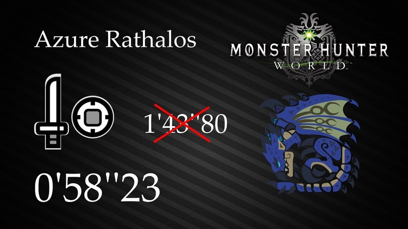 MHWorld | Azure Rathalos Solo (Sword and Shield | SnS) - 0'58''23