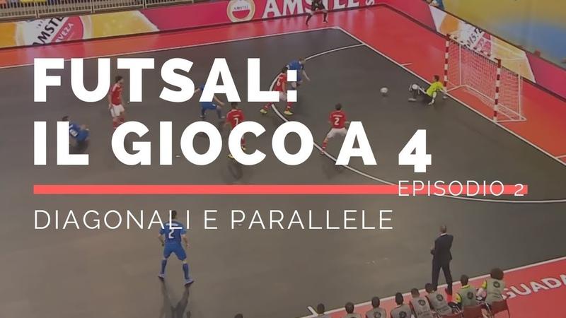 Tattica Futsal Futsal 4-0 - Il gioco a 4 - Attacco in diagonale e parallela EP.2