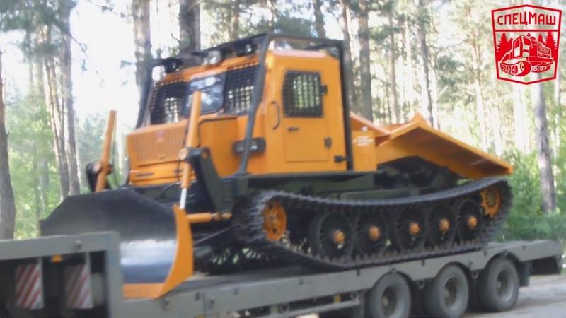 Алтайский трелевщик МГ4 ТТ 4 с бульдозерным отвалом