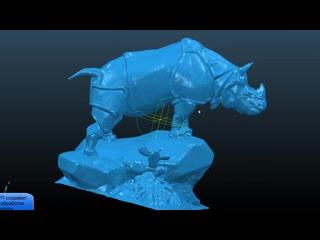 Фрезеровка носорога на ЧПУ мини