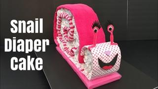 Snail Diaper Cake DIY | Baby Nappy Cake Tutorial