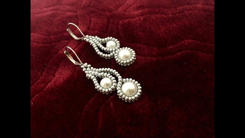 Mehndi Design Inspired Beaded Earrings How to make Beaded Earrings Pearl Earrings