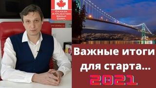Виза в Канаду .Иммиграция в Канаду из Украины  в 2021. Важные итоги , для старта  в 2021.