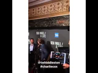 Opening night of 'sea wall / a life', august 8, 2019