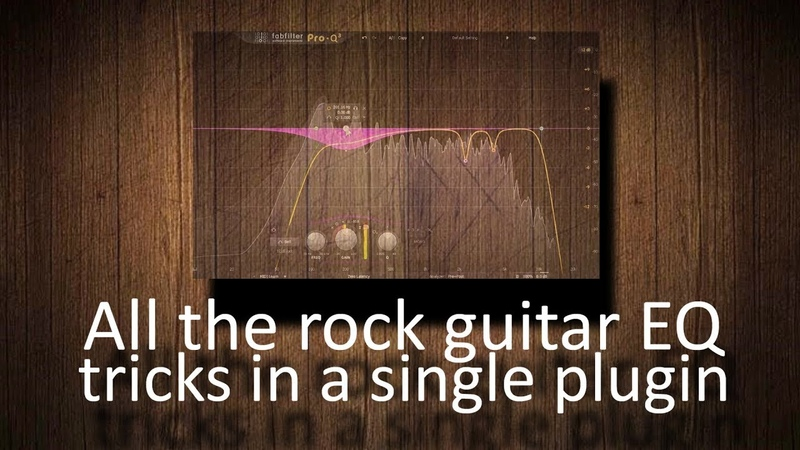 All the rock guitar EQ tricks in a single plugin (FabFilter Pro-Q 3)
