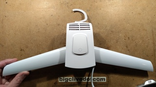 Teardown of a hot air coat hanger for drying clothes