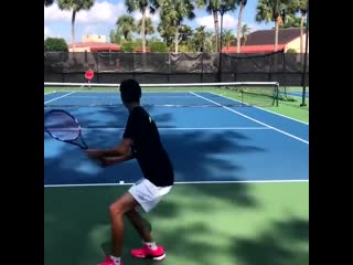 Tennis training with former atp player and now coach brian dabul training for