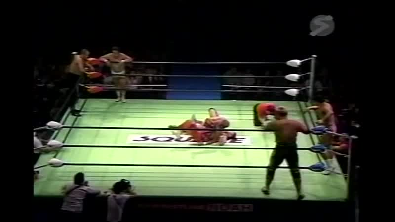 2000.09.15 - Rusher KimuraMitsuo MomotaNaomichi Marufuji vs. Haruka EigenMakoto HashiTakeshi Morishima