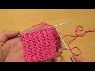 Вязание спицами для начинающих. Французская резинка