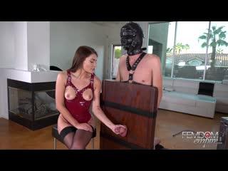 [ / ] Adria Rae - Enhanced Slave Orgasm [2018 г., Femdom, Brunette, Stockings, Tease 1080p]