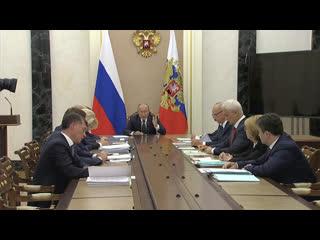 Путин проводит совещание, посвященное модернизации первичного звена здравоохранения