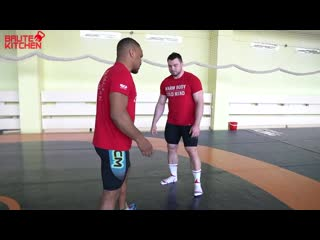 ZHAN BELENIUK - CRAZY WRESTLING TRAINING WITH 115 kg WEIGHTLIFTER. ENG SUB