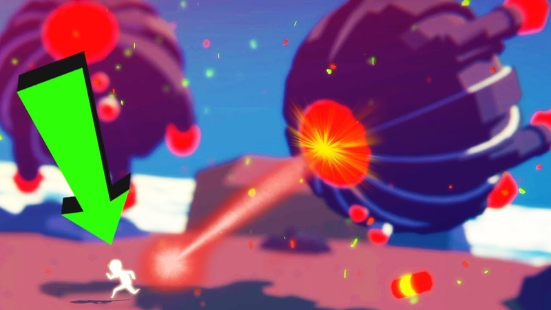 Страный Мультяшный Человечек спасает людей и борется с Инопланетянами игра