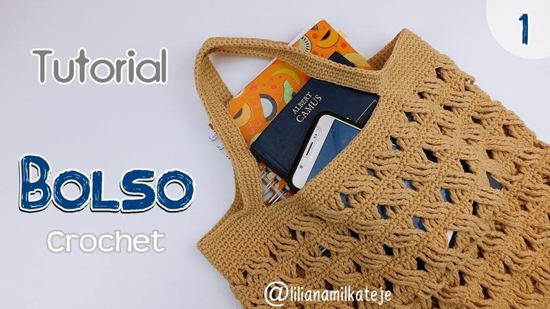 Tutorial bolso de compras a crochet ganchillo Paso a paso Parte 1