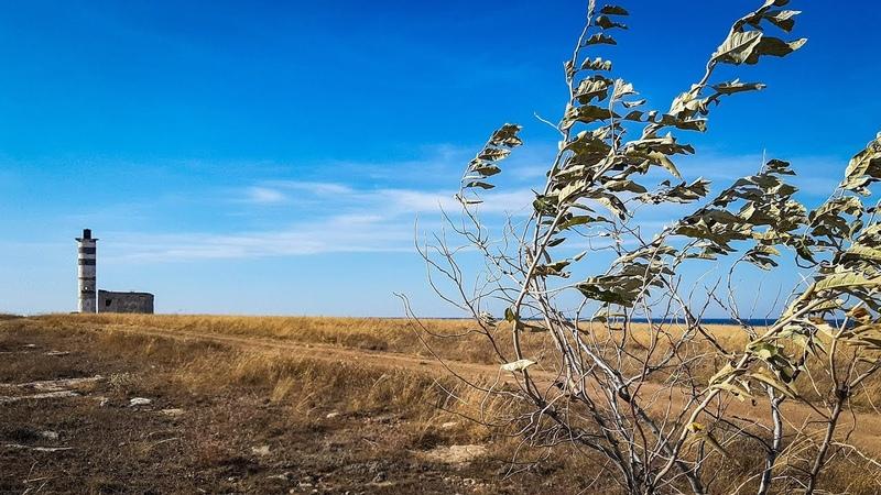 Степь - матушка у синего моря.Черноморское.Тарханкут. Крым. Россия.