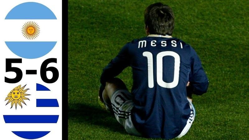 Аргентина 1 1 4 5 Уругвай Обзор Матча Кубка Америки 17 07 2011 HD