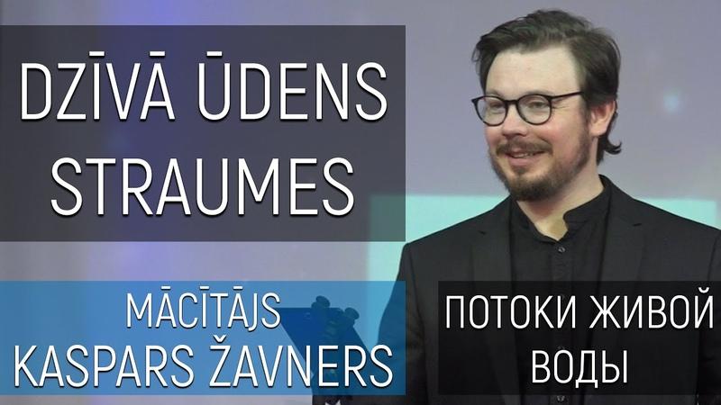 Mācītājs Kaspars Žavners Dzīvā ūdens straumes Потоки живой воды 26072020 (LVRU)