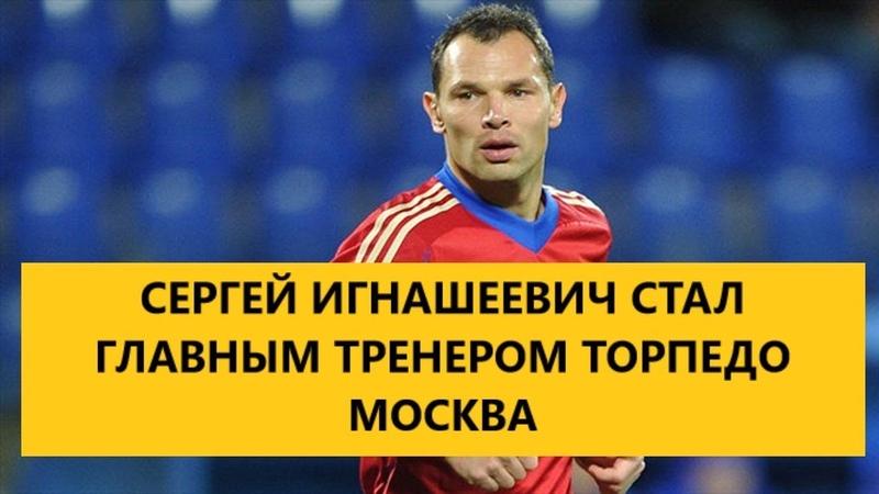 СЕРГЕЙ Игнашевич стал главным тренером Торпедо МОСКВА