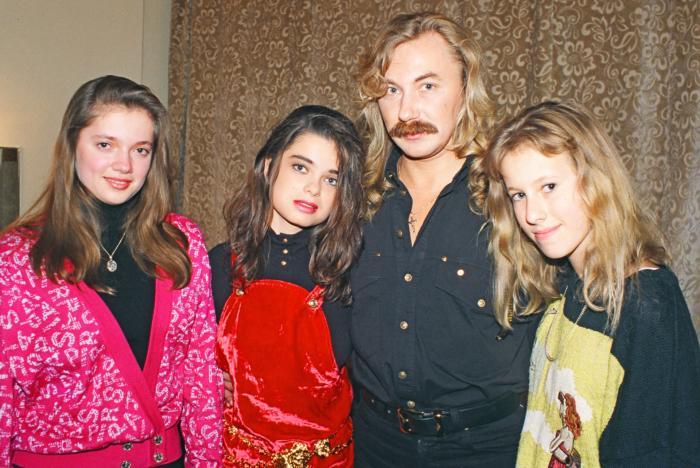 Ирина Порывай, Наташа Королева (Порывай), Игорь Николаев, Ксения Собчак, Россия, 1995 год.