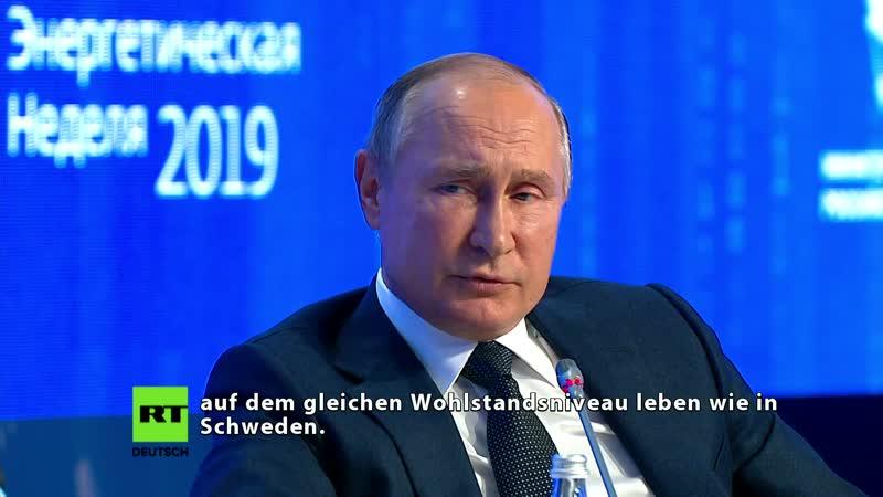 Putin über Thunberg Greta ist ein gutherziges und sehr aufrichtiges Mädchen, aber…