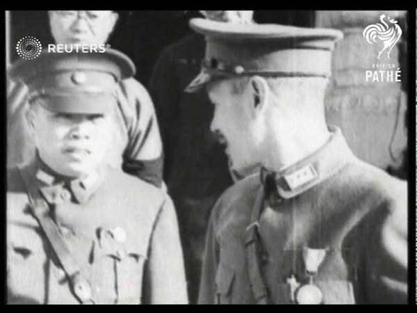 CHINA CHIANG KAI SHEK ARRIVES AT NANKING 1937