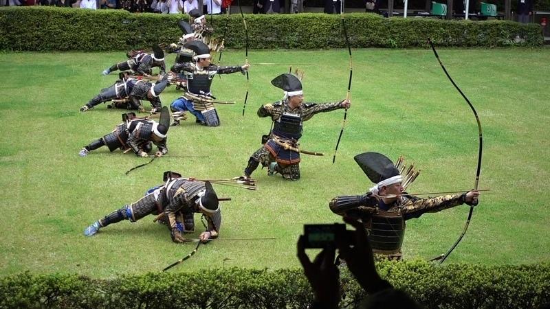 Koshiya Kumiyumi Battlefield Archery Demonstration 薩摩日置流腰矢組弓 演武