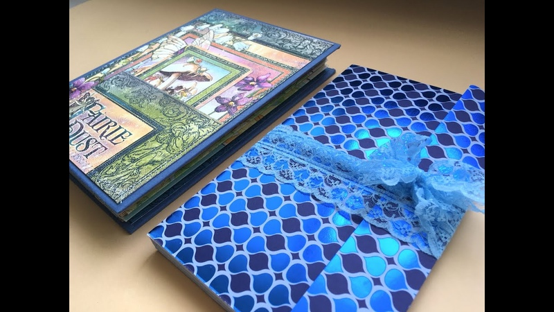 Very simple basic junk journal kit notebook embellishment folder Old book cover recycling Part1