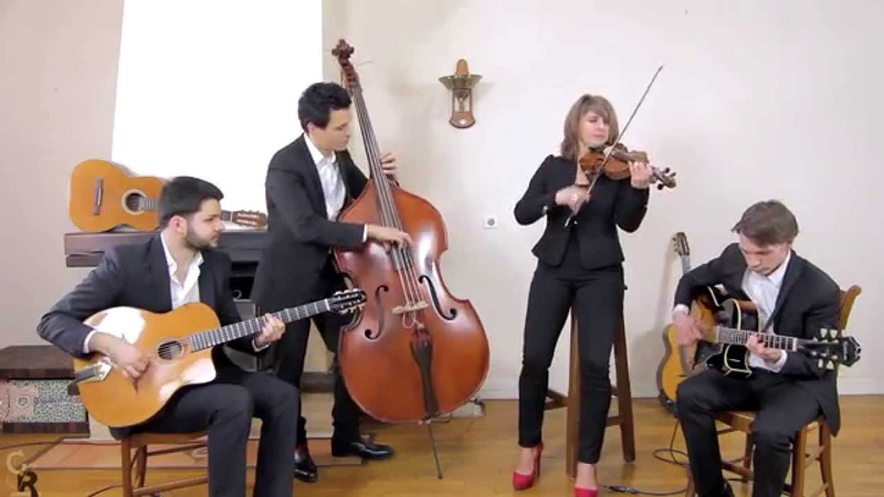 Jardin d'hiver Quartet jazz manouche et bossa pour cocktails et mariages