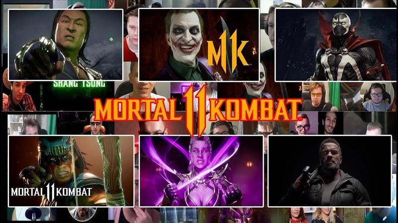 ВСЕ РЕАКЦИИ MORTAL KOMBAT 11 KOMBAT PACK Shang Tsung Nightwolf Joker Sindel Terminator Spawn