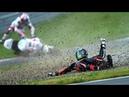 Опасная гонка. Самые жесткие аварии на мотогонках . 18