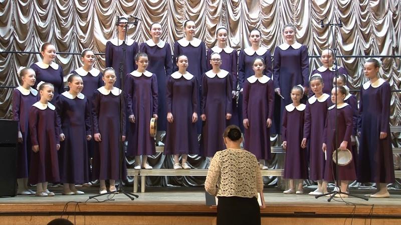 11 Концертный хор Радуга шк №118 Четыре духовных хора Гром Коза играла на баяне Плешак