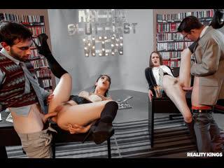 Gina Valentina, Karlie Montana, Samantha Hayes - May The Sluttiest Win |  Foursome Group Sex Brazzers Porn Порно
