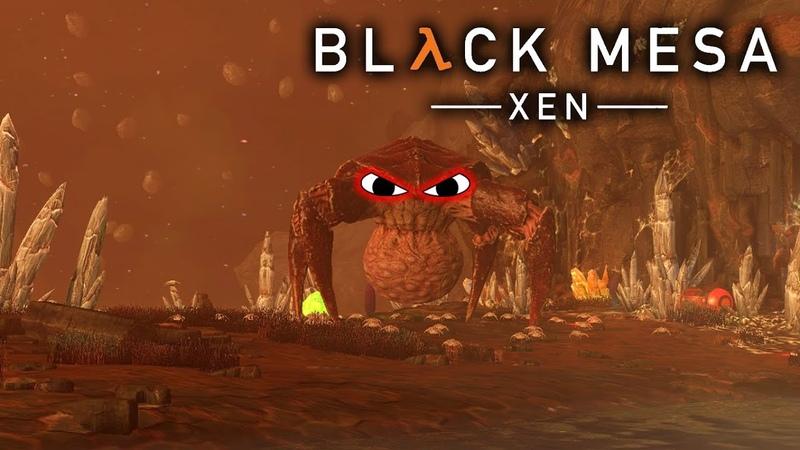 Black Mesa Xen 3 БОЙ С ПАУЧАРОЙ!