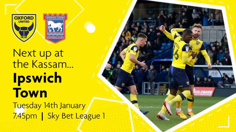 Sky Bet League 1 2019 20 14 01 20 Oxford United Ipswich Town