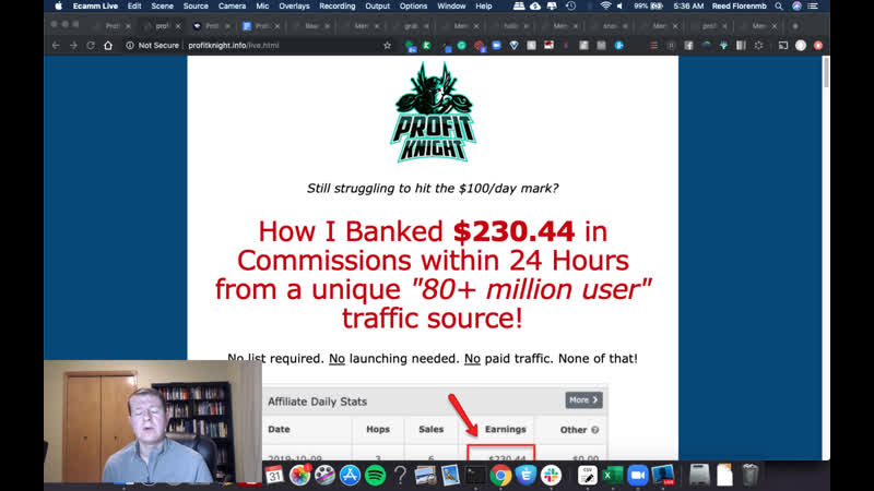 Profit Knight Review Bonus How Brett Hitchcock Banked $230 44 in Commissions within 24 Hours from a unique 80 million user