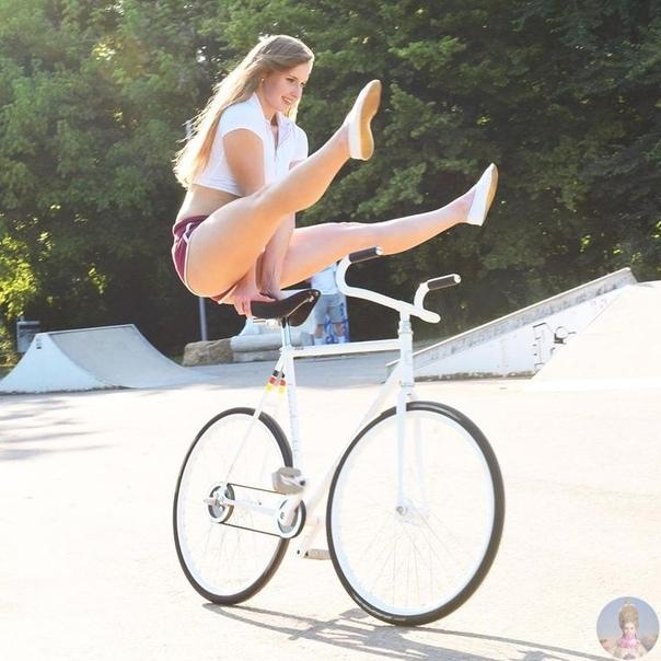 Чемпионка Европы по фигурной езда на велосипеде