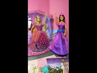 """Распаковка Лианы """"Барби и Хрустальный замок"""" 2008 и обзор на книжки Барби с кукольными иллюстрациями"""