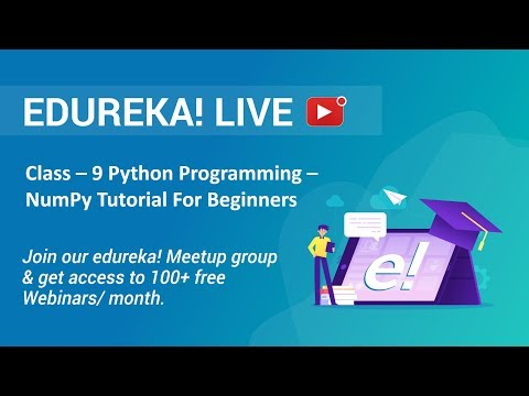 Class - 9 Python Programming | NumPy Tutorial For Beginners - Introduction To NumPy | Edureka