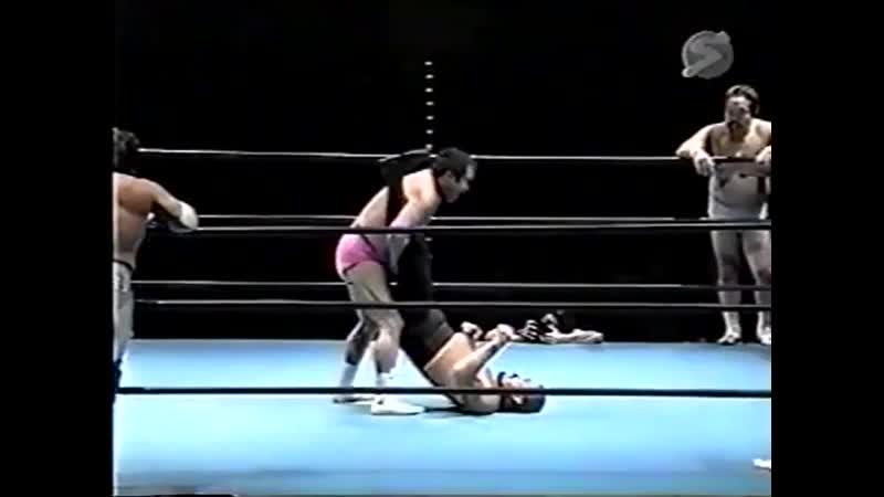 2000.02.20 - Haruka EigenMasanobu FuchiTsuyoshi Kikuchi vs. Makoto HashiMitsuo MomotaRusher Kimura