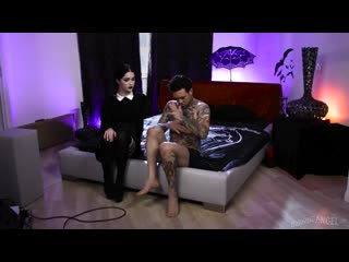Evelyn Claire - Very Adult Wednesday Addams [BurningAngel] Hardcore, Goth Girl, Fishnets, Tattoo, Na