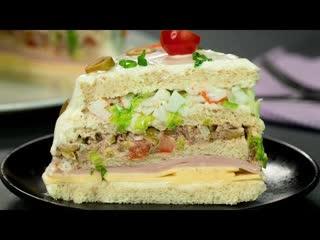 Фантазия на тему торта! Яркий, сытный и вкусный(Ингредиенты под видео)    Больше рецептов в группе Кулинарные Рецепты
