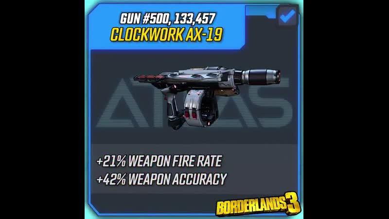 Borderlands 3 Gun Spotlight: Clockwork AX-19