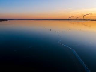 """Фотокалендарь """"липецк 2020"""" первый лед, матырское водохранилище"""