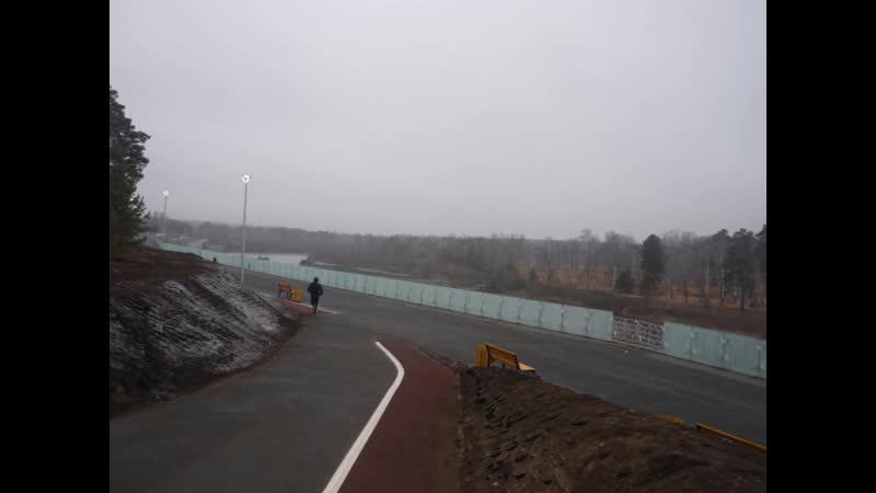 Пробежка по набережной в Ангарске (3.11.2019 г.)