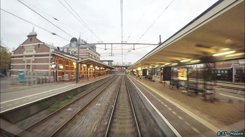 4K Cab Ride NL Hoogkarspel Hoorn Schiphol Hoofddorp Opstel Empty Train 23 10 2017