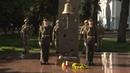 Ранковий церемоніал вшанування загиблих українських героїв 25 серпня