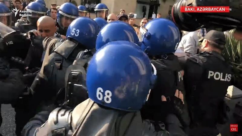 Əli Kərimlini saxlanma görüntüləri, mərkəzi küçələrdə polis nəzarəti