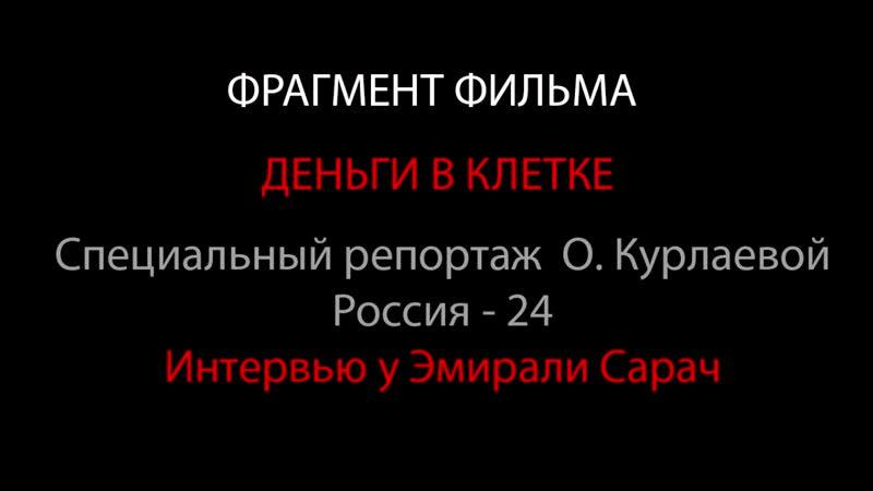 Фрагмент интервью ЭМИРАЛИ САРЫЧ Деньги в клетке Специальный репортаж Ольги Курлаевой